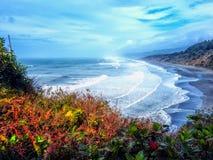 玛瑙海滩俯视 免版税库存照片