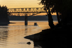 玛瑙通行证桥梁 免版税图库摄影