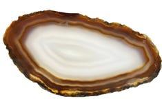 玛瑙geode地质水晶 图库摄影