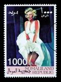 玛里琳・门罗邮票 库存照片
