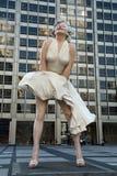 玛里琳・门罗雕象 免版税库存图片