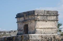 玛雅人墨西哥破坏tulum 详细资料 库存照片