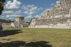 玛雅人墨西哥破坏tulum 图库摄影