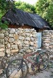 玛雅人房子在尤加坦,墨西哥 库存图片