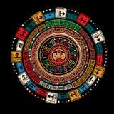 玛雅人日历 库存图片