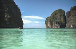玛雅人海湾在发埃发埃海岛。泰国 库存图片