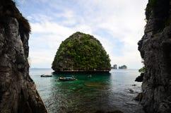 玛雅人海湾,发埃发埃海岛,泰国视图  图库摄影