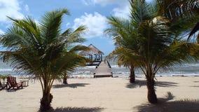 玛雅人海滩,伯利兹中美洲 库存照片