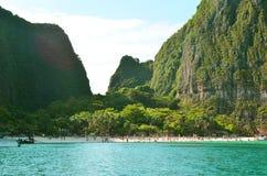 玛雅人海滩Krabi泰国 库存照片