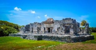 玛雅人热带废墟  库存照片