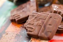 玛雅人纵的沟纹 库存图片