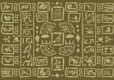 玛雅人艺术品背景 免版税库存图片