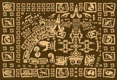 玛雅人艺术品 免版税图库摄影