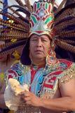 从玛雅人部落的人们 免版税库存照片