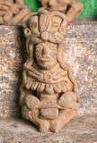 玛雅人雕象特写镜头在危地马拉 免版税库存图片