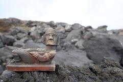 玛雅人雕象 图库摄影