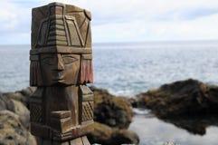 玛雅人雕象 免版税库存图片