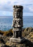玛雅人雕象 免版税图库摄影
