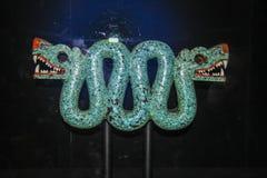 玛雅人龙艺术雕塑  库存照片