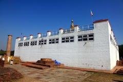 玛雅人devi寺庙,蓝毗尼。 图库摄影