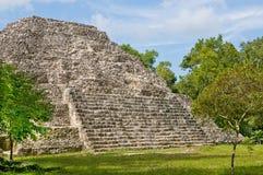 玛雅人pyramide yaxha 免版税图库摄影