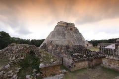玛雅人uxmal墨西哥的寺庙 库存照片