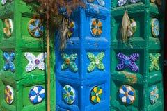 玛雅传统教会门面  库存照片