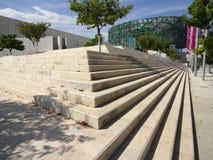 玛雅博物馆建筑学 免版税图库摄影