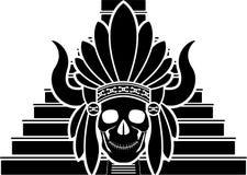 玛雅印地安人的头骨 免版税库存图片