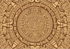 玛雅古老的日历 免版税库存照片