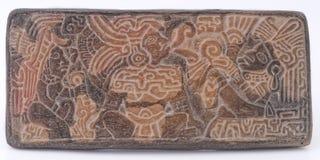 玛雅古老的纵的沟纹 免版税库存图片