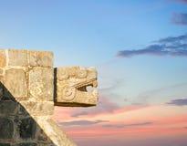 玛雅寺庙,奇琴伊察,墨西哥 图库摄影