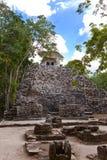 玛雅废墟在墨西哥 免版税库存照片