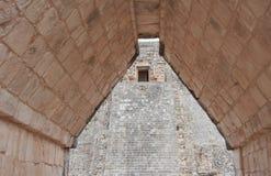 玛雅废墟在尤加坦,墨西哥 免版税库存照片
