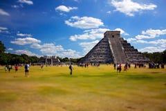 玛雅废墟,金字塔-奇琴伊察墨西哥 免版税图库摄影