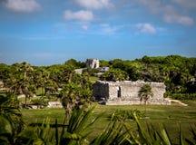玛雅废墟- Tulum,墨西哥 库存照片