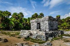 玛雅废墟- Tulum,墨西哥 免版税库存照片