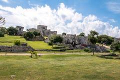 玛雅废墟- Tulum,墨西哥 免版税图库摄影