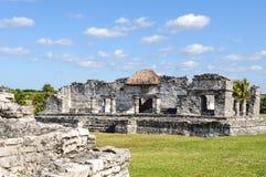 玛雅废墟tulum 免版税库存照片