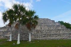 玛雅文化金字塔历史墨西哥尤加坦Xtampu 免版税库存图片