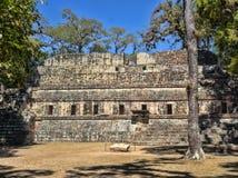 玛雅文明科潘考古学站点,离与危地马拉的边界不远 这是资本的主要古典 免版税库存照片