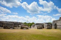 玛雅文明Caracol考古学站点在西伯利兹 免版税库存图片