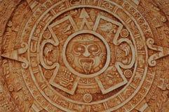 玛雅日历的神 免版税图库摄影