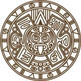 玛雅日历 皇族释放例证