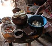 玛雅村民膳食 库存图片