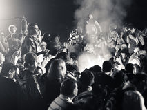 玛雅火仪式 库存图片