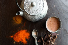 玛雅热巧克力 免版税库存图片