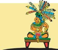 玛雅的国王 库存图片