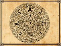 玛雅的日历 免版税库存图片