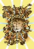 玛雅的神 免版税库存图片